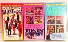 Richard Simmons Latin Blast Off Tonin Uptown Downtown VHS Lot 3 Exercise Toning #RichardSimmons #LatinBlastOff #ToninDowntown #ToninUptown #WeightLoss #WeightControl #Toning