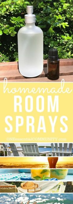 Freshen your home with 15 favorite homemade essential oil room sprays for summer - Sea Breeze, Lemonade, Summer Sunset, Happy Vibes, Mojito