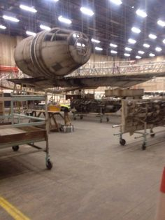 Leaked 'Star Wars: Episode VII' Production Photos Show the Beginning Stages of the Millennium Falcon