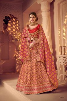 --->Kinas Designer is your one-stop shop for all types of Bridal Wear Collection. --->For more information contact us (Call/Whatsapp): +91 78028 85280 #lehenga #bridallehenga #weddinglenega #designerlehenga #lehengacholi #indianwedding #indianfashion #indianbride #weddingdress #bridalwear #bridal #indianwear#anarkalilehenga #bride #instafashion #style #traditionallehenga#india #sabyasanchi #manishmalhotra #handworklehenga Pink Bridal Lehenga, Indian Wedding Lehenga, Bridal Lehenga Online, Indian Wedding Outfits, Ghagra Choli, Silk Lehenga, Bridal Lehenga Collection, Light Pink Color, Lehenga Designs
