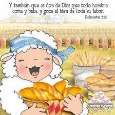 Eclesiastés 3:13  y también que es don de Dios que todo hombre coma y beba, y goce el bien de toda su labor.♔
