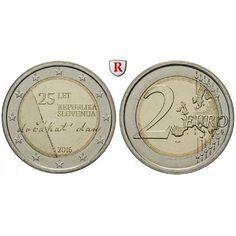 Slowenien, 2 Euro 2016, bfr.: 2 Euro 2016. 25 Jahre Unabhängigkeit Sloweniens. bankfrisch 5,00€ #coins