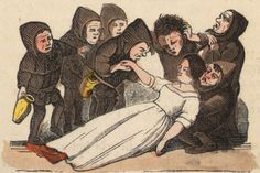 An illustration from page 17 of Mjallhvít (Snow White) from an 1852 icelandic translation of the Grimm-version fairytale.