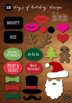 Christmas Photo Booth Props - Free Printable