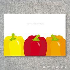 【パプリカ】イラストポストカード