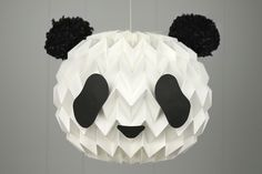where techy meets pretty + etc: Panda-fy your Paper Lantern / Bubble