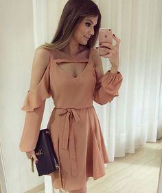 Outfit with black bags of Louis Vuitton Cute Dresses, Casual Dresses, Short Dresses, Fashion Dresses, Style Feminin, Evening Dresses, Summer Dresses, Mode Hijab, Pink Outfits
