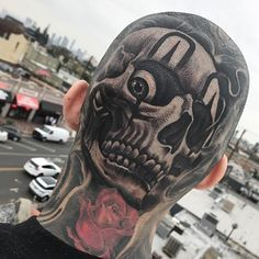 Skull Head Tattoos - Best Skull Tattoos For Men: Cool Skull Tattoo Designs and Ideas For Guys skull tattoo 101 Best Skull Tattoos For Men: Cool Designs + Ideas Guide) Small Skull Tattoo, Skull Tattoo Design, Skull Design, Tattoo Designs Men, Head Tattoos, Life Tattoos, Body Art Tattoos, Sleeve Tattoos, Guy Tattoos