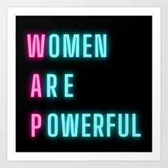 Buy WAP | Women Are Powerful Feminist Feminism Quote Inspiring Inspirational Motivational Art Print by wordz. Worldwide shipping available at Society6.com. Just one of millions of high quality products available. Wall Art Prints, Canvas Prints, Feminism Quotes, Watercolor Dreamcatcher, Abstract Canvas Art, Watercolor Pattern, Girl Power, Motivational Quotes, Life Quotes