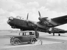 In August 1942 Lancaster I R5727 became the first of its type to fly the Atlantic, having been chosen as the pattern machine for production of the Lancaster in Canada. It is seen here at Prestwick airport before the flight. [IWM]