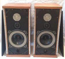 Pair of Vintage B&W DM-4 Speakers - Bower & Wilkins DM4 Loudspeakers