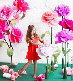 Купить Сказочный сад - разноцветный, розовый, цветы бумажные, бумажные цветы, гигантские цветы
