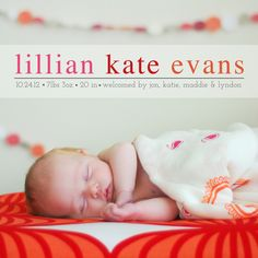 Katie Evans Photography: Make your own baby announcements!