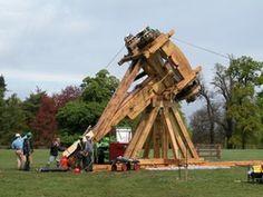 a full-size Roman war machine, or 'ballista'.