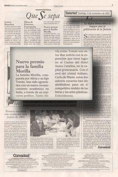 Canarias 7 / 9 de noviembre de 2003 Canarias a Diario Domingo 9 de noviembre de 2003  O P I N I Ó N  QUE SE SEPA   URL http://www.artemorilla.com/index.php?ci=120