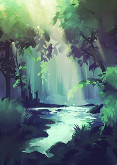 Blue forest by longestdistance.deviantart.com on @deviantART