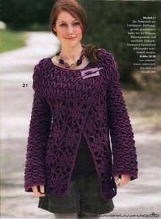 Purple cardigan - a whole lot of ideas