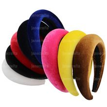 Thick Velvet Women Headbands Hair Accessories Head Band Fashion Headwear 4CM Wide Plastic Hairbands For Woman(China (Mainland))