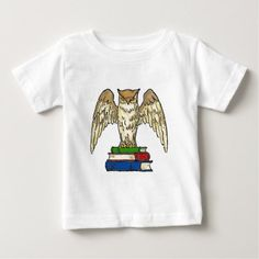 Owl and Books Baby T-Shirt - diy cyo customize create your own personalize