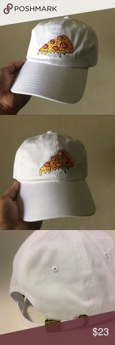 Pizza Slice Dad Hat NWT This White Strapback Dad Hat is adjustable with tuck pocket NEW___Ignore tags: huf, weed, marijuana, kush, obey, stussy, dope, trill, Blvck, boy london, paris, joggers, trap style, rave, rare, huf, blvck fashion, trill, pipe, dabber, glass, sad, me, goth, goth girl, woes, the six, 6ix, ovo, blvck, Brooklyn, London, pikachu, 6 God, glitter, naps, mobb, asap, long style, Ovo, snapback, pastel, Brandy, American, urban, anti social club, adidas, Nike, puma Accessories…