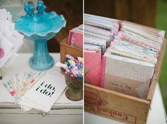 Vintage Sewn Wedding Programs