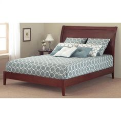 Fashion Bed Group Java Queen Size Platform Bed in Mahogany