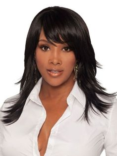 Merle Wig by Vivica Fox - Long Wigs - Wigs - Especially Yours Vivica Fox, Medium Hair Cuts, Medium Hair Styles, Long Hair Styles, Remy Human Hair, Human Hair Wigs, Beauty Hair Extensions, 2015 Hairstyles, Black Hairstyles