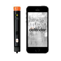 Spray de defensa que hace una foto del atacante