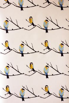Juneberry & Bird Wallpaper by Lorna Syson