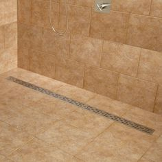 Effendi Linear Shower Drain - Shower Drains - Shower and Tub Drains - Bathroom