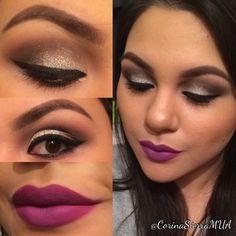 Instagram: @CorinaSierraMUA  #newyearsmakeup #glittermakeup
