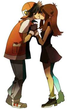 Pokemon: Red & Blue I don't care for this ship either but this is adorbs
