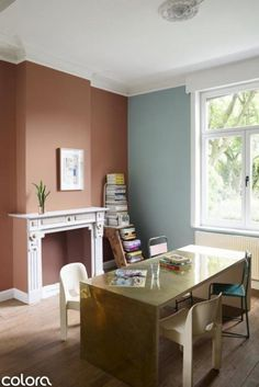Schilder je schouw rood Sitting In A Tree, Buy Paintings, Home And Away, Corner Desk, Life Is Good, Interior Decorating, Sweet Home, Living Room, Bedroom