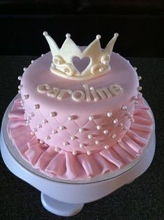 Fondant Cakes, Cupcake Cakes, Cupcakes, Pink Princess Cakes, Tiara Cake, Rodjendanske Torte, Pink Birthday Cakes, Baby Girl Cakes, Just Cakes