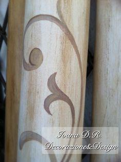 Binari in legno per tende