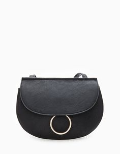 At Stradivarius you'll find 1 Messenger bag with ring trim for woman for just 12.99 £ . Visit now to discover this and more BAGS.