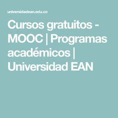 Cursos gratuitos - MOOC | Programas académicos | Universidad EAN
