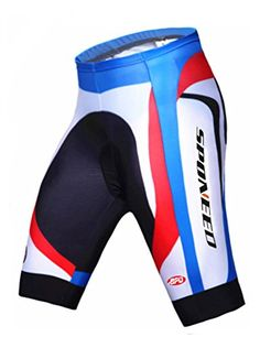 Sponeed Mens Cycle Shorts Tights Cycle Pans Riding bottom Asian XL US L Blue Multi ** See this great product.Note:It is affiliate link to Amazon.