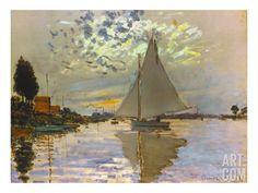 Monet: Sailboat, by Claude Monet