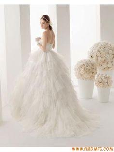 frisado princesa bola vestido de tule vestido de casamento z...