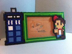 Doctor Who picture frame perler beads by Libelulazul on deviantART