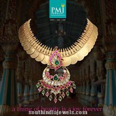 Gold Ruby Kasumalai from PMJ jewels