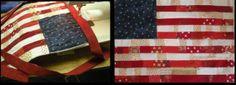 Scrappy flag quilt