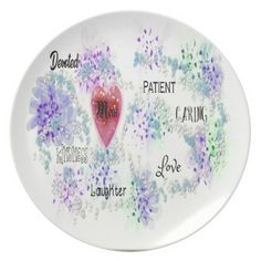 #Mom Melamine Plate - #mom #mum #mother #wife #mothersday #gift #bestmom