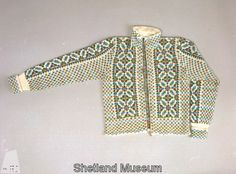 Unusually vertical Fair Isle, via the Shetland Museum and Archives.