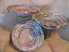coiled paper bowls