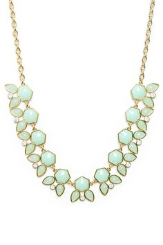 ShopSosie Style : Petalview Necklace in Mint