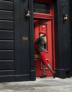Other Red door Black Lingerie, Women Lingerie, Vermillion Red, Black Decor, Shades Of Black, Red Fashion, Red And White, Red Black, Color Combos