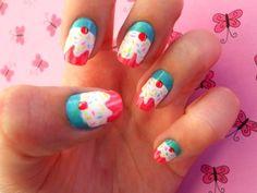 cupcake finger nails