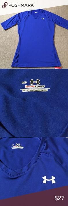 Fitted under armor volleyball heat gear Blue under armor heat gear fitted volleyball shirt.  1/2 length sleeves Under Armour Tops Tees - Short Sleeve